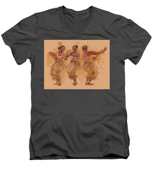Tonga Dance From Niuafo'ou Men's V-Neck T-Shirt