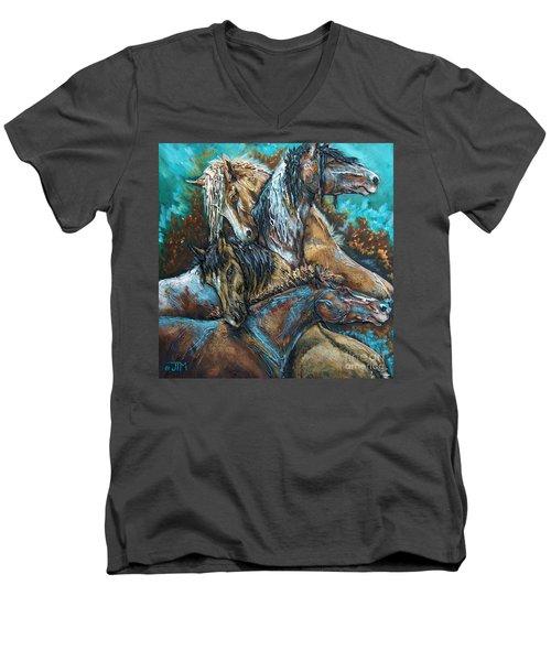 Too Be Like Me Be Four Men's V-Neck T-Shirt