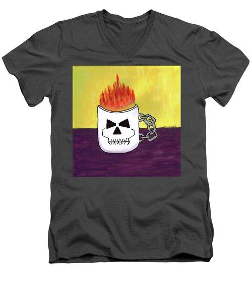 Too Hot To Handle Men's V-Neck T-Shirt