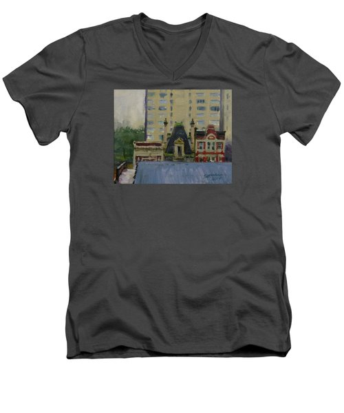Too Wet To Paint Outdoors  Men's V-Neck T-Shirt