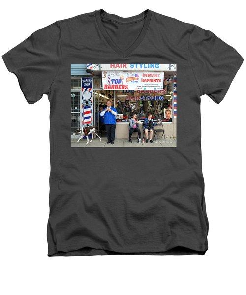 Top Barbers Men's V-Neck T-Shirt