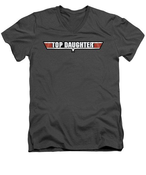 Top Daughter Callsign Men's V-Neck T-Shirt by Fernando Miranda