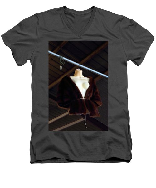 Men's V-Neck T-Shirt featuring the photograph Top Fur Coat by Viktor Savchenko
