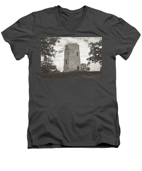 Top Of The Hill Men's V-Neck T-Shirt