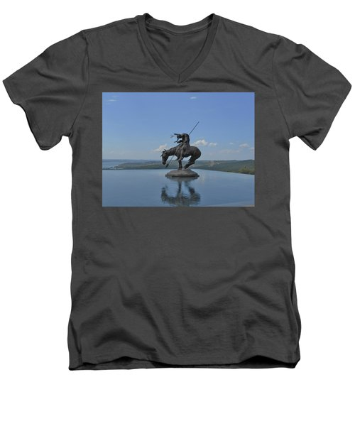 Top Of The Rock Infinity Pool Men's V-Neck T-Shirt
