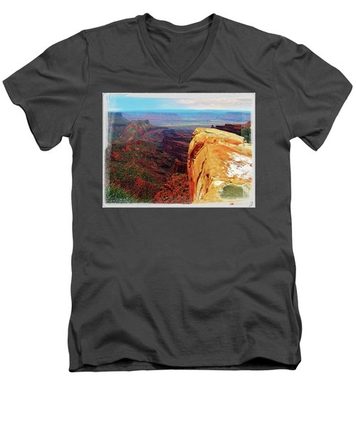 Men's V-Neck T-Shirt featuring the digital art Top Of The World by Gary Baird