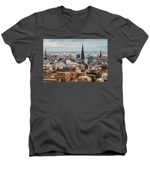 Top View Of Hamburg Men's V-Neck T-Shirt