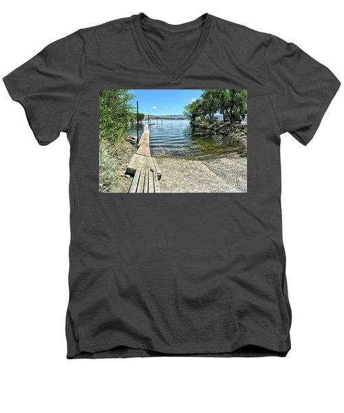 Topaz Landing Boat Launch Men's V-Neck T-Shirt