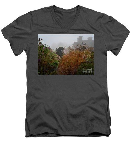 Topiary Peacocks In The Autumn Mist, Great Dixter 2 Men's V-Neck T-Shirt