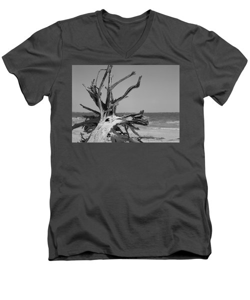 Toppled Tree Men's V-Neck T-Shirt