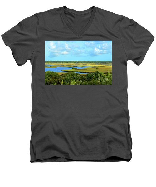 Topsail Island Marshland Men's V-Neck T-Shirt