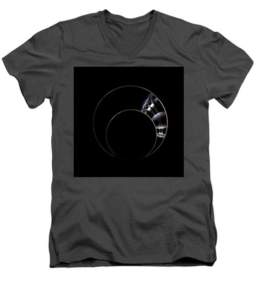 Men's V-Neck T-Shirt featuring the digital art Torc by Lea Wiggins