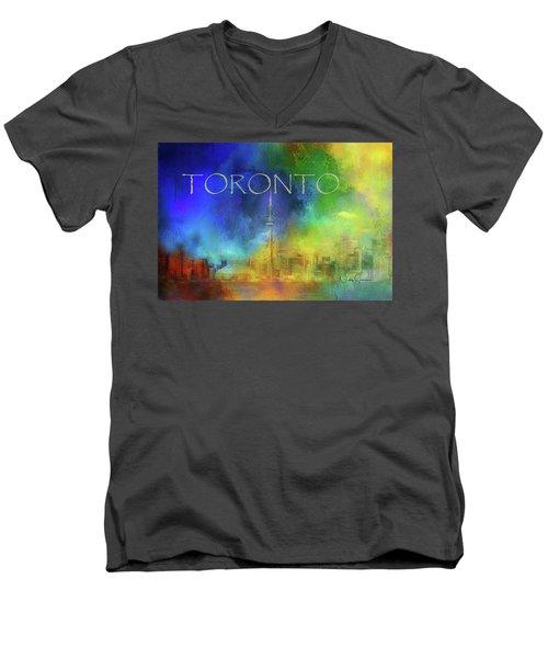 Toronto - Cityscape Men's V-Neck T-Shirt