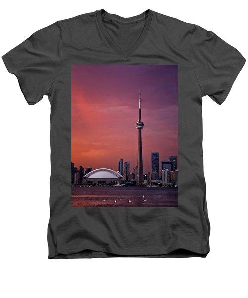 Toronto Sunset Men's V-Neck T-Shirt