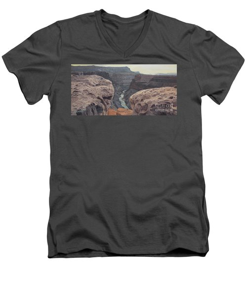 Toroweap Overlook Grand Canyon North Rim Men's V-Neck T-Shirt