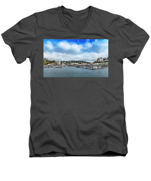 Men's V-Neck T-Shirt featuring the photograph Torquay Devon by Scott Carruthers