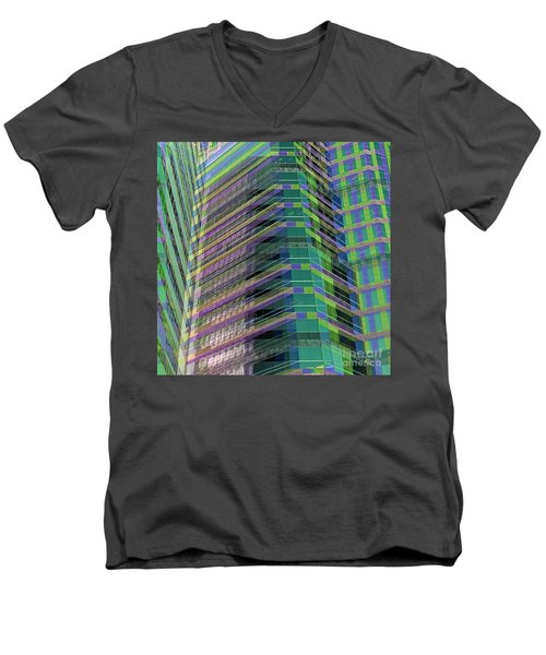Abstract Angles Men's V-Neck T-Shirt