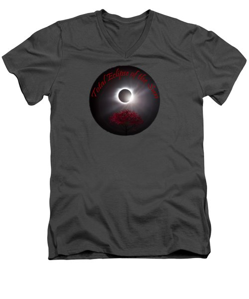 Total Eclipse T Shirt Art  Men's V-Neck T-Shirt