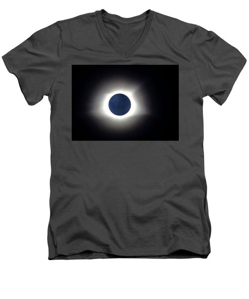 Blue Moon  Men's V-Neck T-Shirt