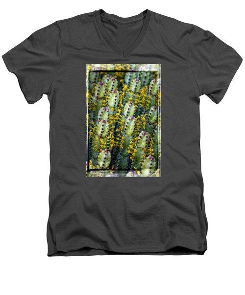 Totem Cactus Men's V-Neck T-Shirt