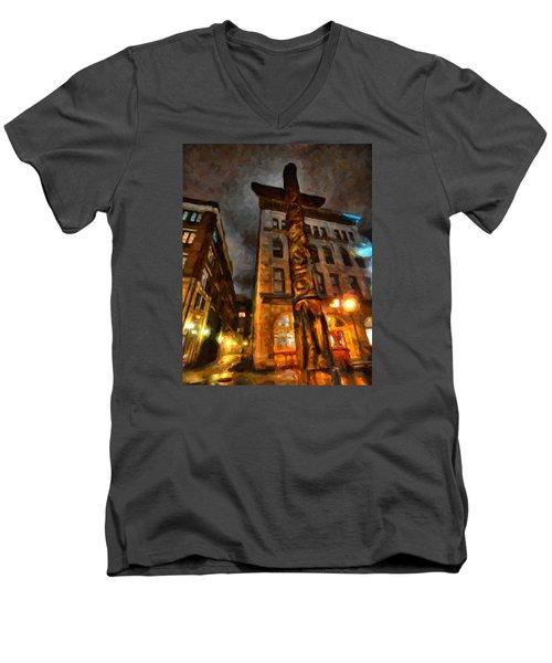 Totem In The City Men's V-Neck T-Shirt