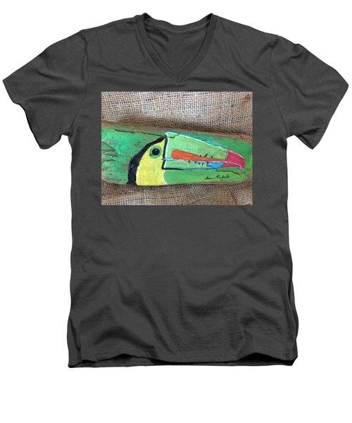 Toucan Men's V-Neck T-Shirt by Ann Michelle Swadener