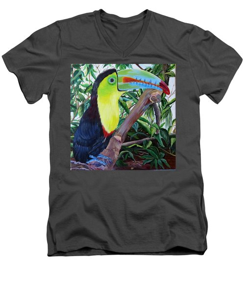 Toucan Portrait Men's V-Neck T-Shirt