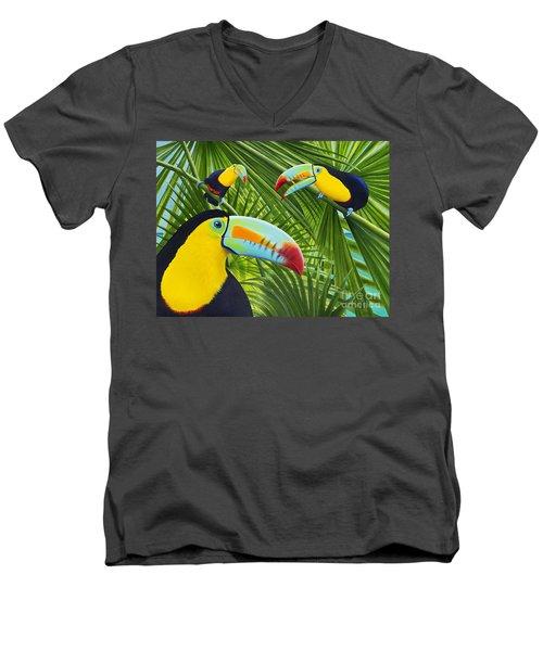Toucan Threesome Men's V-Neck T-Shirt