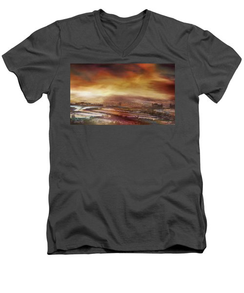 Touch By The Sunrise Men's V-Neck T-Shirt