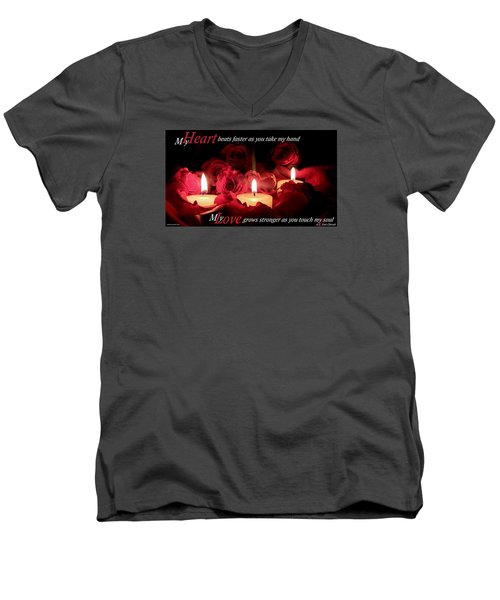 Men's V-Neck T-Shirt featuring the photograph Touch My Soul by David Norman