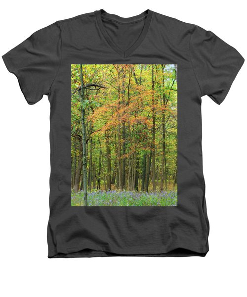 Touch Of Autumn Men's V-Neck T-Shirt by Cedric Hampton