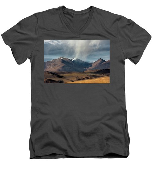 Touch Of Cloud Men's V-Neck T-Shirt by Hitendra SINKAR