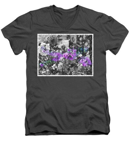 Touch Of Phlox Men's V-Neck T-Shirt