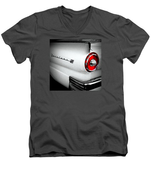 Men's V-Neck T-Shirt featuring the photograph Touch Of Red by Nick Kloepping