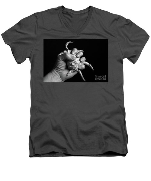 Men's V-Neck T-Shirt featuring the photograph Touch Series - Shells by Nicholas Burningham