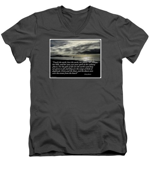 Men's V-Neck T-Shirt featuring the photograph Touch The Earth by David Norman