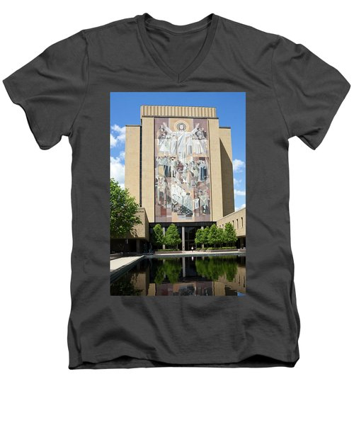 Touchdown Jesus Mural Men's V-Neck T-Shirt