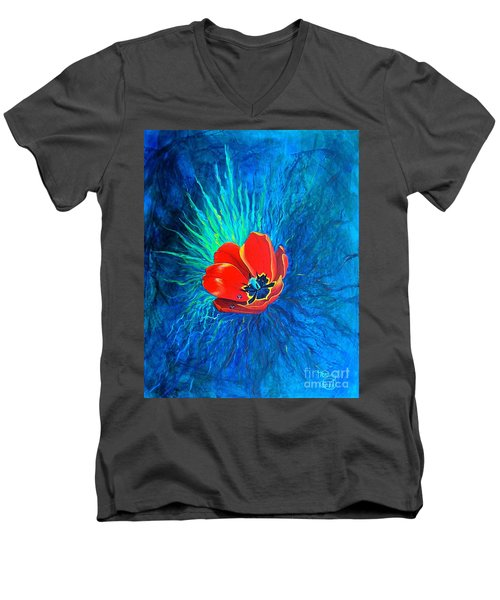 Touched By His Light Men's V-Neck T-Shirt