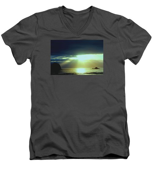 Touched From Above Men's V-Neck T-Shirt