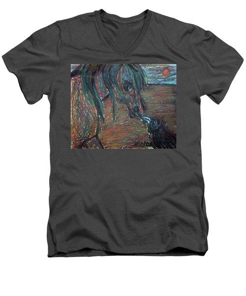 Touching Noses Men's V-Neck T-Shirt