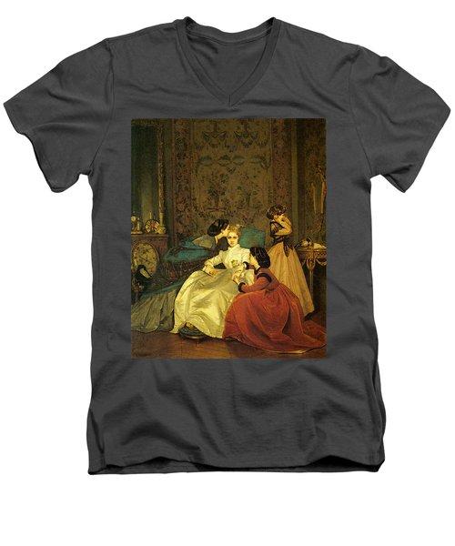 Toulmouche Auguste The Reluctant Bride Men's V-Neck T-Shirt