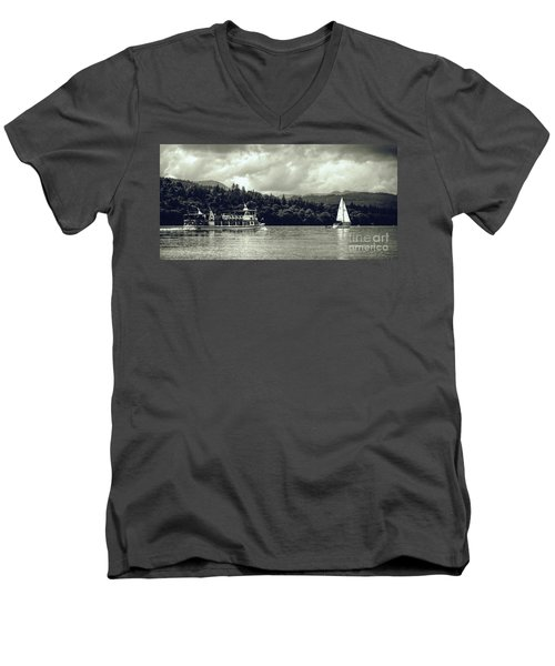 Touring The Lakes In Sepia Men's V-Neck T-Shirt