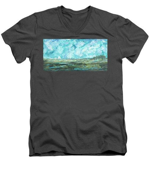 Toward Pinckney Island Men's V-Neck T-Shirt