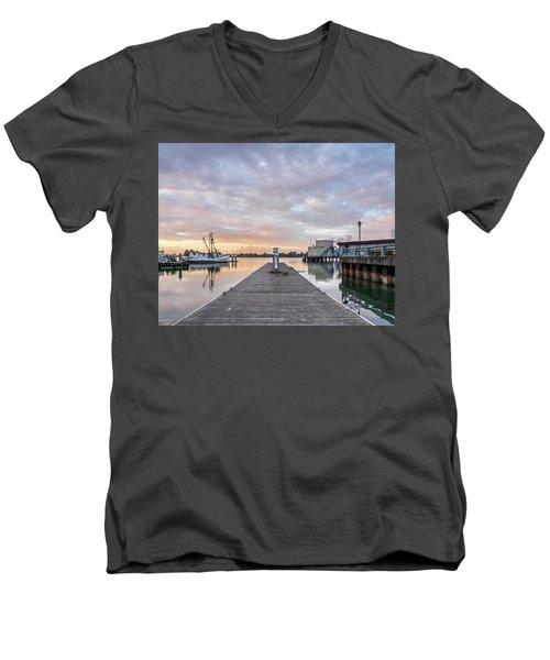 Toward The Dusk Men's V-Neck T-Shirt by Greg Nyquist