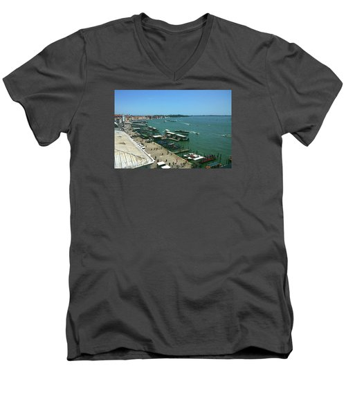 Men's V-Neck T-Shirt featuring the photograph Towards Giardino by Anne Kotan