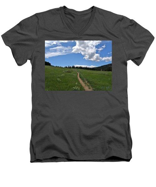 Towards The Sky Men's V-Neck T-Shirt