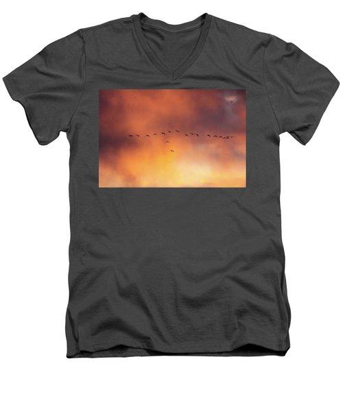 Towards The Sun Men's V-Neck T-Shirt