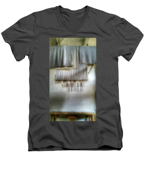 Towels And Sheets Men's V-Neck T-Shirt by Isabella F Abbie Shores FRSA
