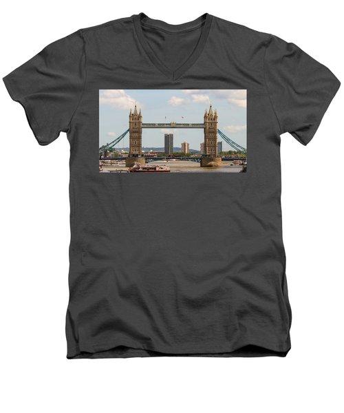 Tower Bridge C Men's V-Neck T-Shirt