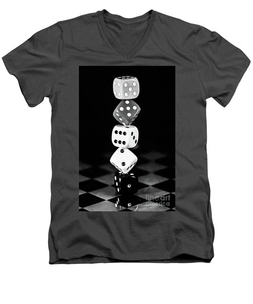 Tower Dice  Men's V-Neck T-Shirt